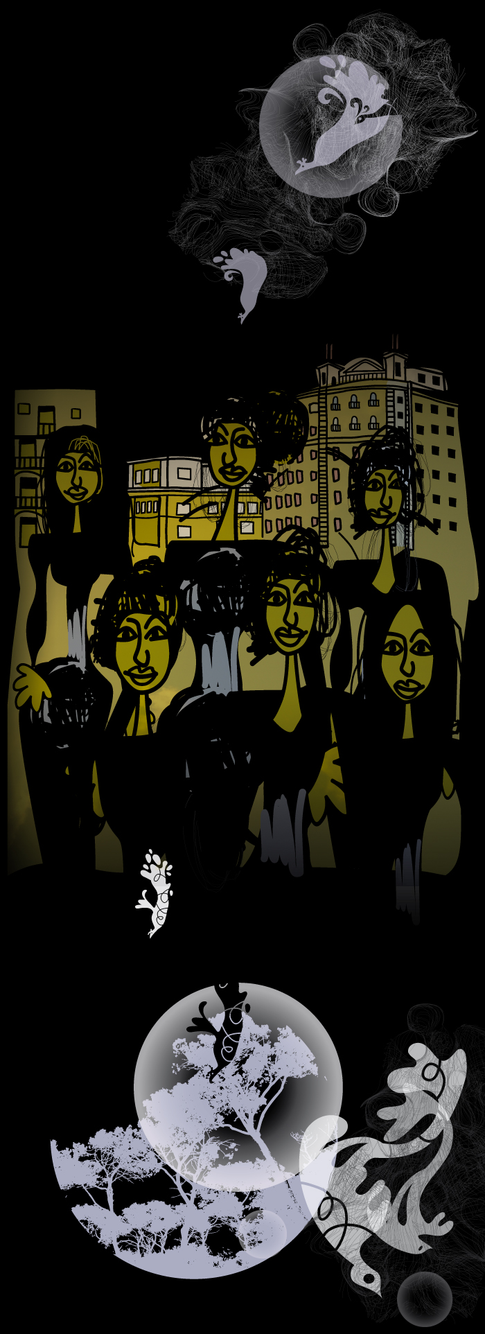 Women in the city, illustrated by Montse Noguera