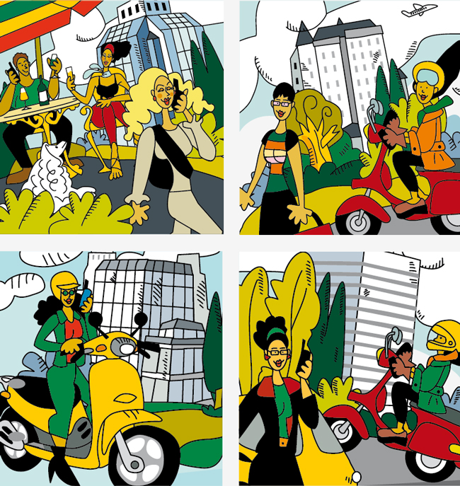 people in the City, illustrated by Montse Noguera